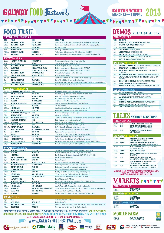 The galway food festival program food pr marketing ireland for Application plan cuisine