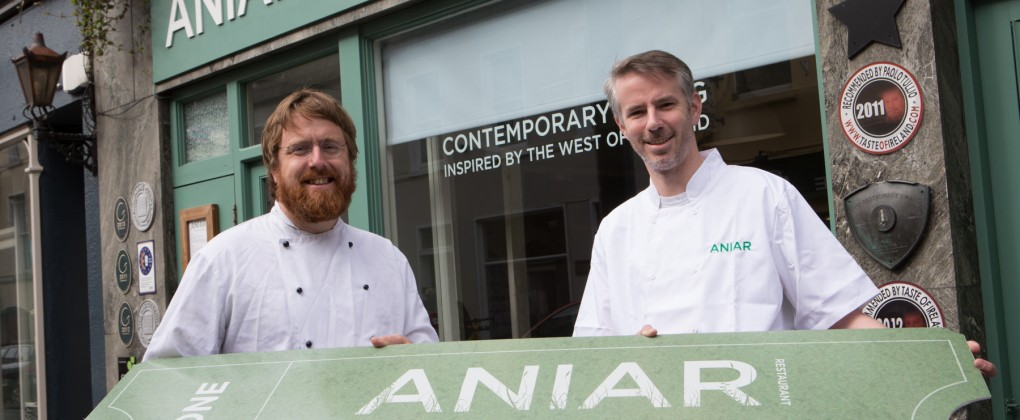 Jp McMahon and Ultan Cooke launch advance booking system at Aniar Galway