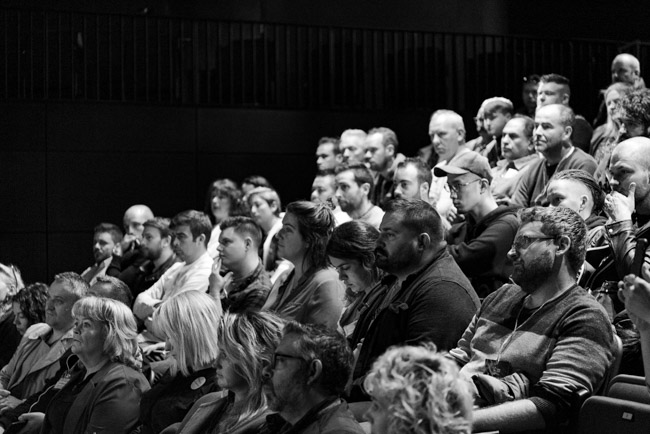 Audience at the Joshna Maharaj Masterclass at Food on the Edge 2018 - Photography by Clare Yazbeck