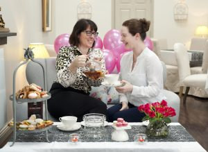 Anne Forde and Lisa Forde pictured at the launch of the Poppy Seed Pink Afternoon Tea which takes place this Saturday in the Poppy Seed Café on Eyre Street. The Poppy Seed Gourmet Cafés are going pink on Saturday for Breast Cancer Awareness Month. Photo: Declan Monaghan
