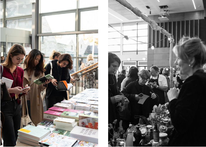 Charlie Byrne's pop-up bookshop and some of the food producers stalls at Food On The Edge 2018 - Photography by Clare Yazbeck